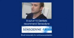 Dr Alex Creavin on TV with Sensodyne