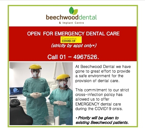 emergency dental care covid 19 dentists dublin